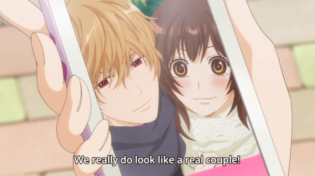 More acting like a real couple in the next episodes until Erika realized she was falling for Kyoya.